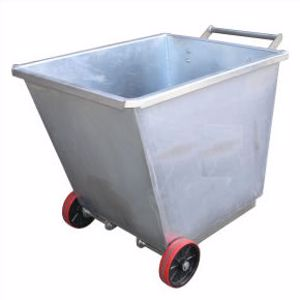 Picture of Light Weight Forklift Skip Bin 0.5m2 with Wheels
